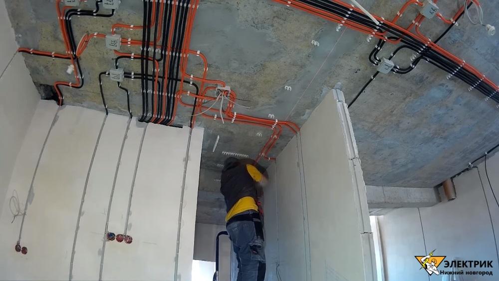 Электромонтаж в коттеджах, домах
