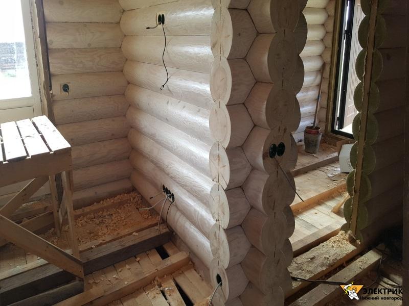 электрика в деревянном доме под ключ